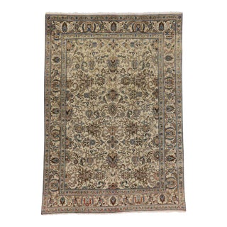 75518 Vintage Persian Tabriz Rug with Traditional Style