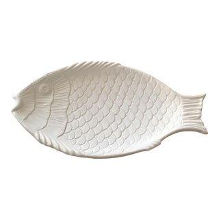 Italian Pottery Fish Platter For Sale