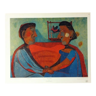 """Color Print on Paper, """"The Lovers"""" by Rufino Tamayo - Circa 1970 For Sale"""