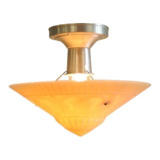 1930s Art Deco Hanging Bowl Light, Virden Lighting For Sale