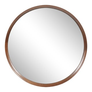 Reagan Round Wood Mirror from Kenneth Ludwig Chicago For Sale