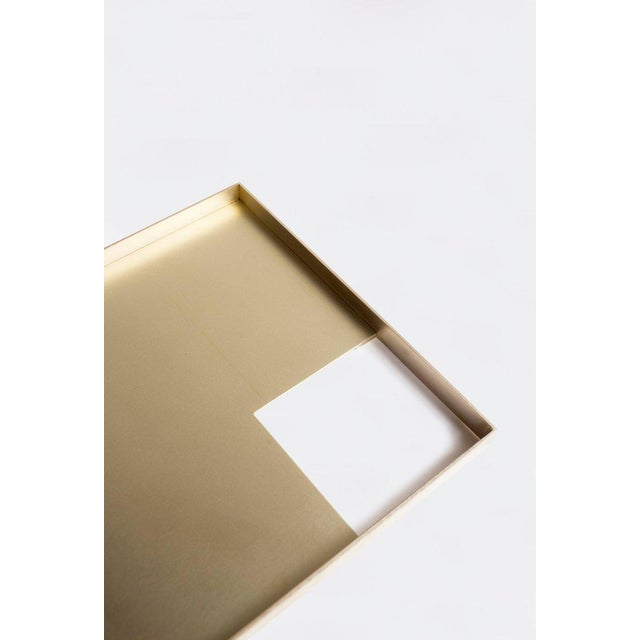 Orphan Work Modern Contemporary 002 Tray in Brass by Orphan Work For Sale - Image 4 of 5