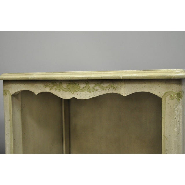 John Widdicomb Country French Provincial Cream Paint Nightstands - a Pair For Sale In Philadelphia - Image 6 of 13
