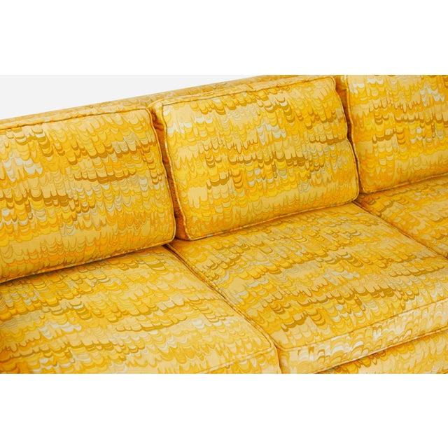 Jack Lenor Larsen Jack Lenor Larsen 4 Seat Sofa on Brass Legs For Sale - Image 4 of 7