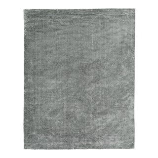 Exquisite Rugs Milton Hand Loom Viscose Light Silver - 14'x18' For Sale
