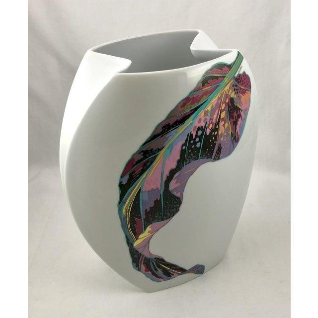 Rosenthal Porcelain Brigitte Doege Calla Lily Vase For Sale In New York - Image 6 of 10