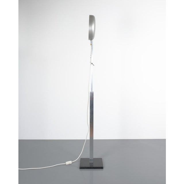 Bauhaus Articulate Aluminum Floor Lamp by Schliephacke for Mewa, Circa 1955 For Sale - Image 3 of 12