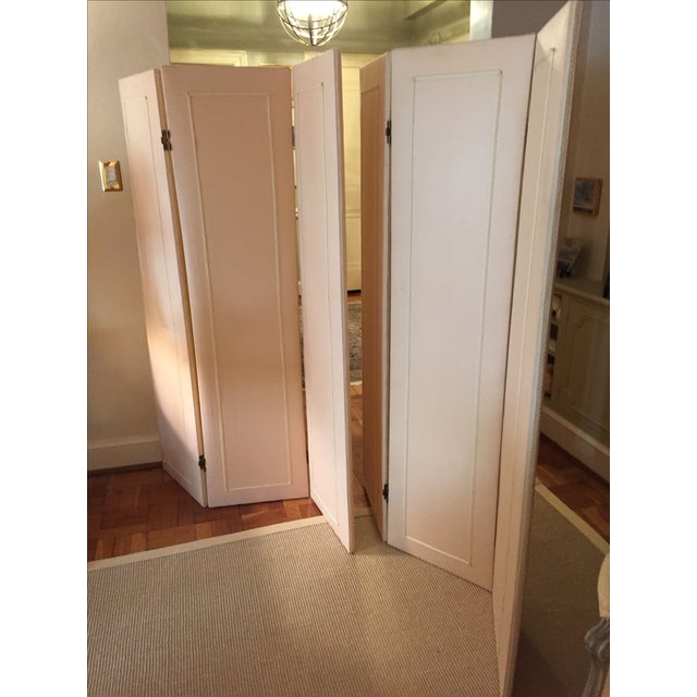 Upholstered Three-Leaf Screens - A Pair - Image 6 of 6