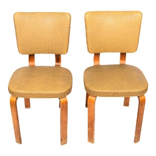 Vintage Mid Century Aalto Style Side Chairs - a Pair For Sale