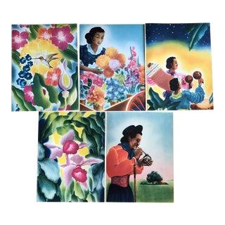 Vintage South American Menu Art Prints - Set of 5 For Sale