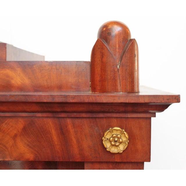 Bronze 19th Century Biedermeier Bibliotheque of Figured Mahogany For Sale - Image 7 of 10