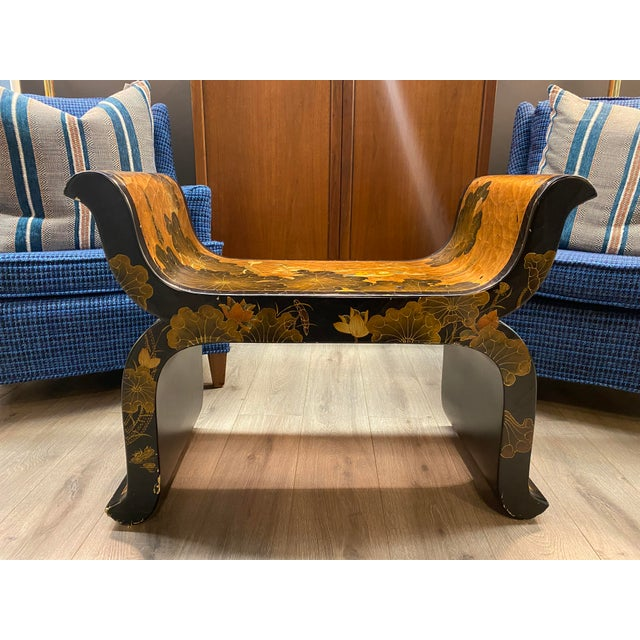 Antique Hand Painted Asian Bench For Sale - Image 13 of 13