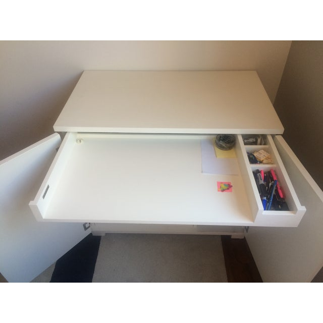 Crate & Barrel Filing Cabinet and Pull-Out Desk For Sale - Image 7 of 7