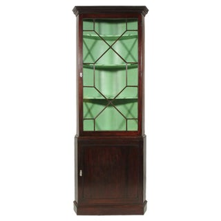 19th-C. George III Corner Cabinet For Sale