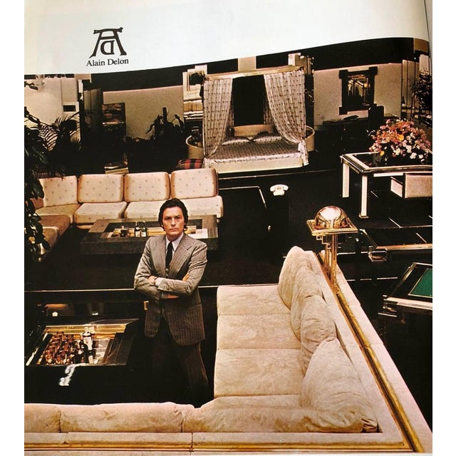 Black 1975 Alain Delon for Maison Jansen Lacquer and Brass Wall Mirror For Sale - Image 8 of 13