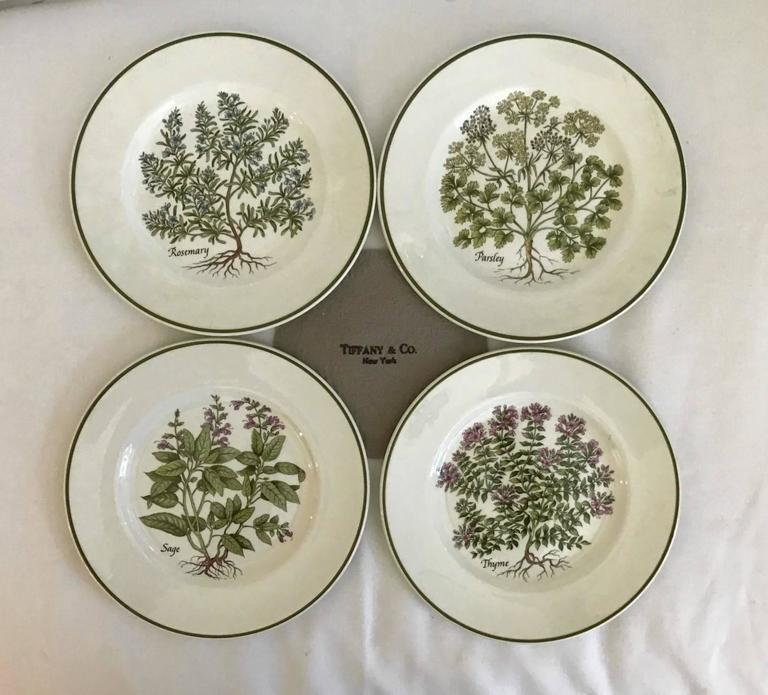 Tiffany u0026 Co. Herbs Plates - Set of 4 - Image 10 of 10 & Tiffany u0026 Co. Herbs Plates - Set of 4 | Chairish