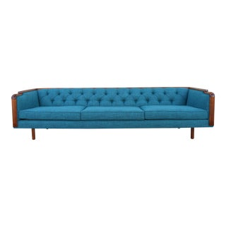 Danish Tufted Walnut Sofa