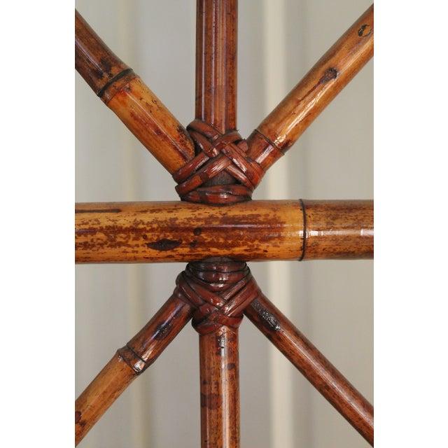 Vintage Bamboo Rattan Folding Room Divider For Sale - Image 4 of 12