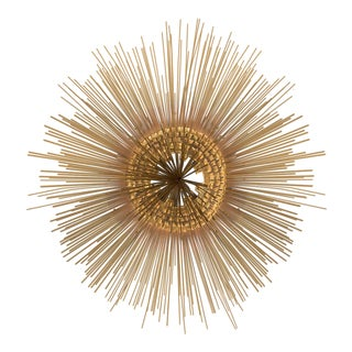 Curtis Jere Brass Sunburst Wall Sculpture For Sale