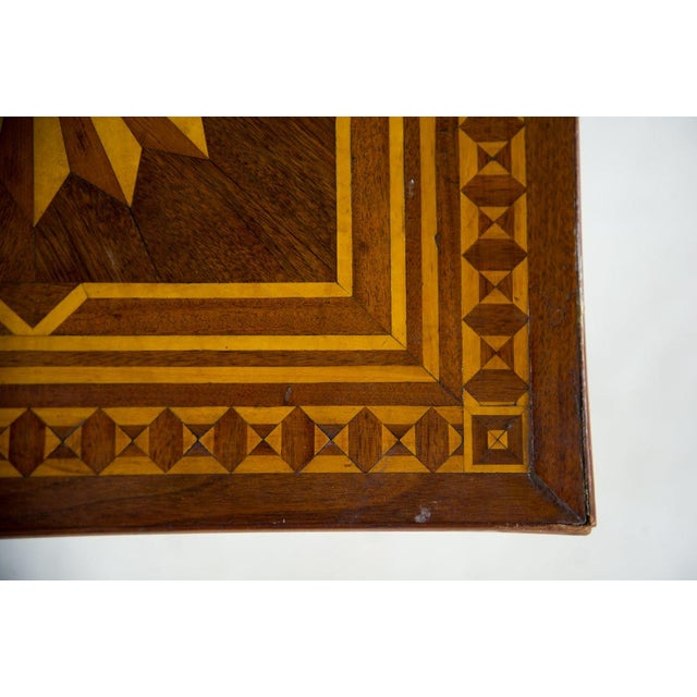 19th C. Victorian Tilt-Top Marquetry Occasional Table For Sale In Atlanta - Image 6 of 13