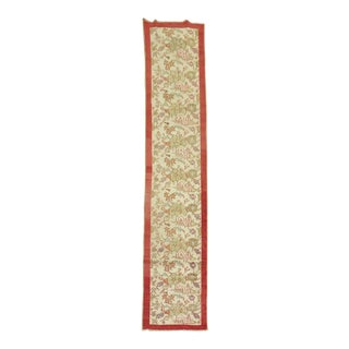Ivory Floral Narrow Turkish, 2'2'' X 10'8'' For Sale