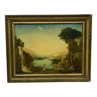 Antique English Oil Painting C.1850 For Sale
