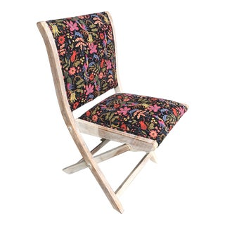 Modern Anthropologie + Rifle Paper Co. Terai Folding Chair For Sale