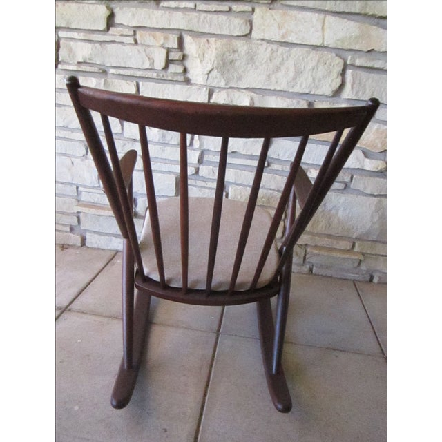Frank Reenskaug for Bramin Mobler Rosewood Danish Rocking Chairs For Sale In Wichita - Image 6 of 8
