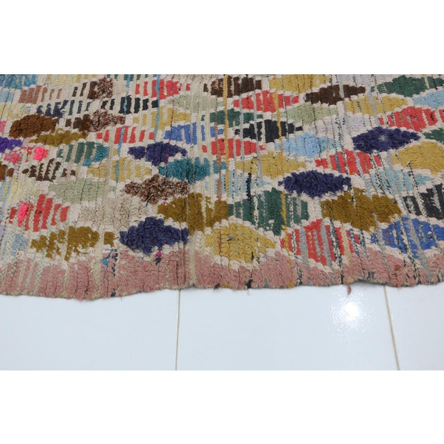 1970s 1970s Vintage Boujad Moroccan Rug - 2′11″ × 7′1″ For Sale - Image 5 of 6