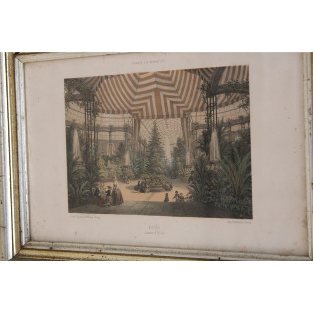Silver French Country Prints in Silver and Gold Bamboo Style Wooden Frames - a Pair For Sale - Image 8 of 10