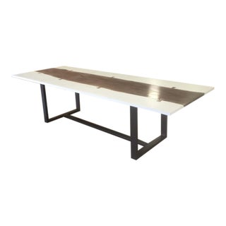 Organic Modern Live Edge Dining Table For Sale