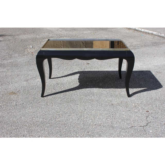 Black 1940s French Art Deco Ebonized Coffee Table For Sale - Image 8 of 13