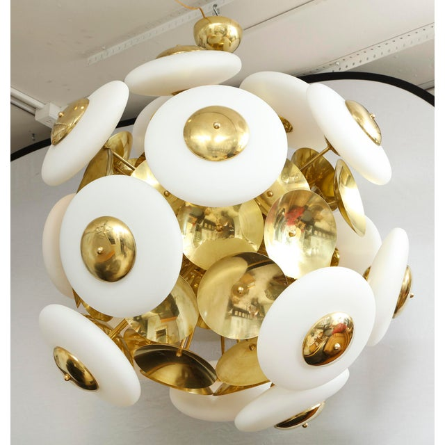 Sculptural Italian Modern Brass and Glass Sputnik Chandelier With 45 Arms For Sale In New York - Image 6 of 6
