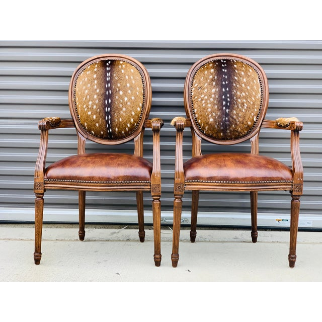 Modern Axis Hide Parlor Chairs- a Pair For Sale - Image 9 of 9