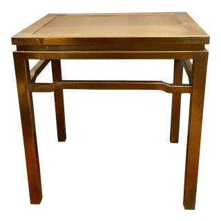Jamie Young Ming Brass Vertagris Side Table For Sale