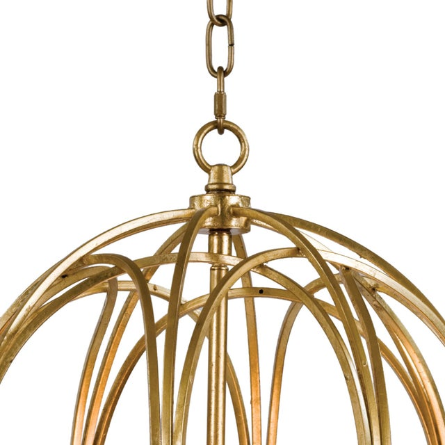 Ofelia Pendant Medium in Gold Leaf For Sale - Image 4 of 8