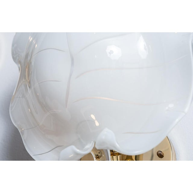 Large Murano Glass Wall Leaf Sconces by Franco Luce - Set of 3 For Sale In West Palm - Image 6 of 13