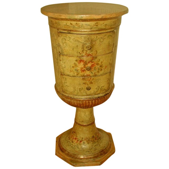 Picie Italian Hand Painted 19th C. Pedestal Table - Image 1 of 10