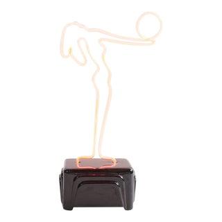Deco Style Figural Neon Lamp For Sale