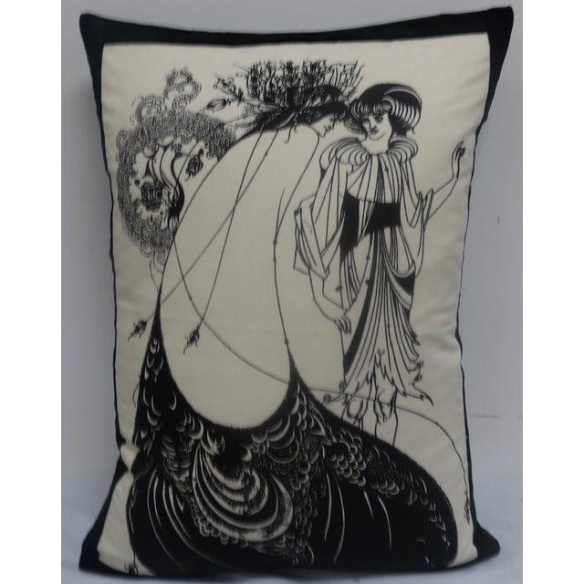 Aubrey Beardsley Illustration Pillow - Image 2 of 5