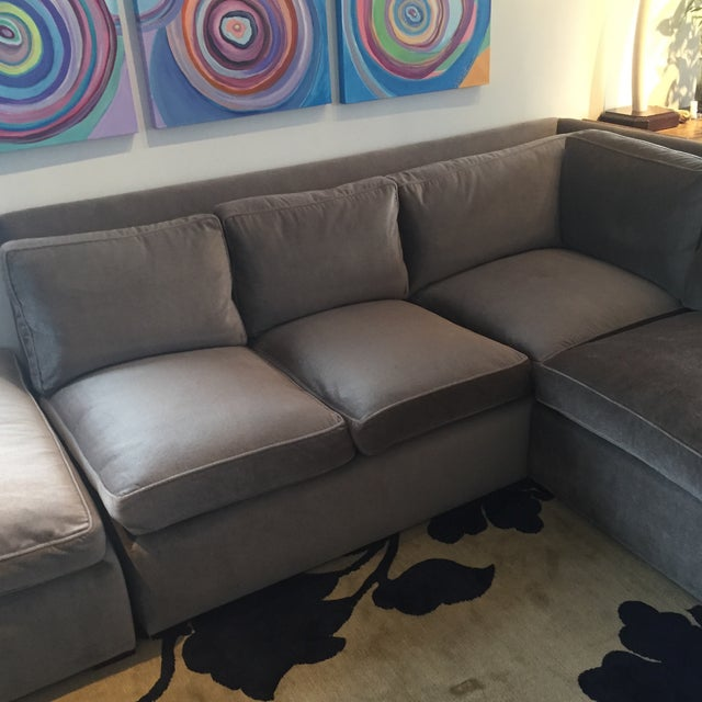 Custom Made Sectional Sofa & Ottoman - Image 4 of 7