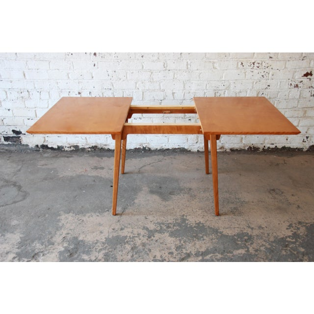 Maple Jens Risom Mid-Century Modern Maple Dining Table For Sale - Image 7 of 11