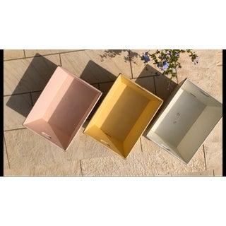 "Folk Art ""Shabby Chic"" Style Wood Storage Bins- Set of 3 Preview"