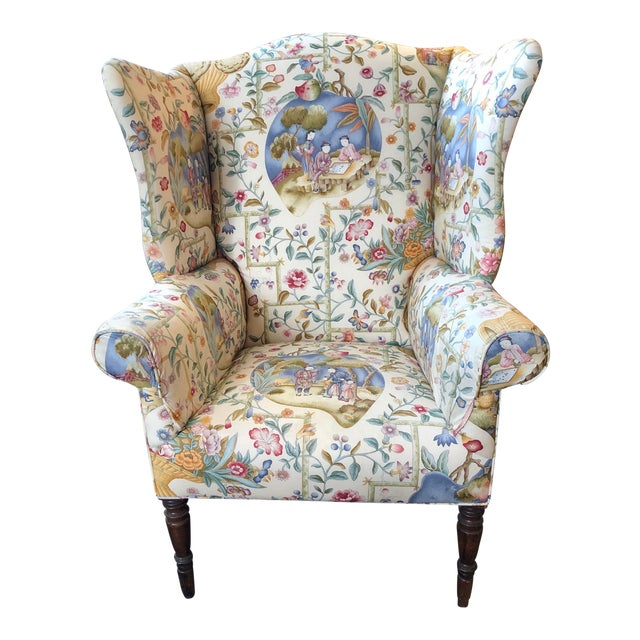Early 19th Century Antique William IV English Wingback Armchair For Sale
