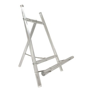 1970s Vintage Modern Lucite Table Top Easel or Frame Stand For Sale