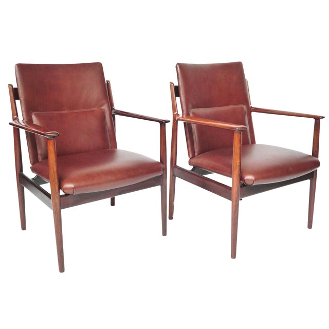 Mid-Century Rosewood Armchairs by Arne Vodder - A Pair - Image 1 of 10