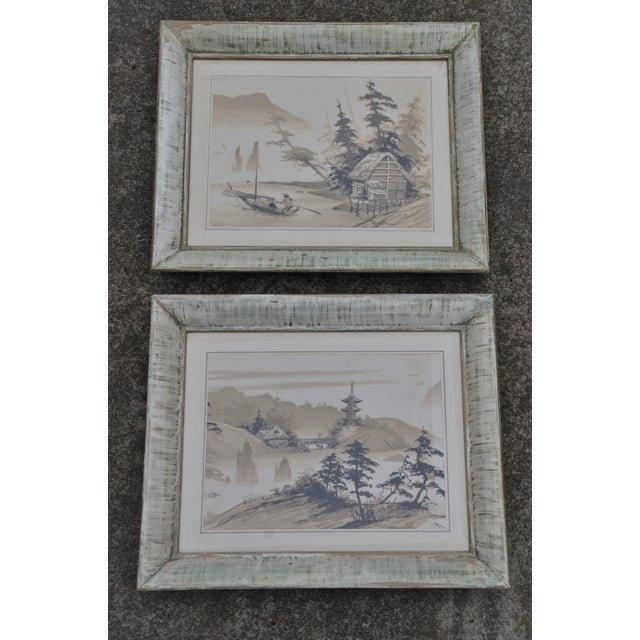 Vintage Mid-Century James Bunnell Chinoiserie Ink Prints - A Pair For Sale - Image 13 of 13