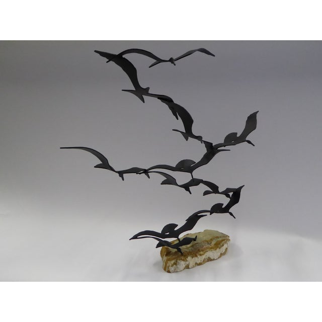 "Bijan ""Flock of Seagulls"" Kinetic Metal Sculpture For Sale - Image 10 of 12"