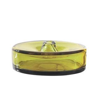 """SkLO Cylinder Glass Vessel 8"""" - Green For Sale"""