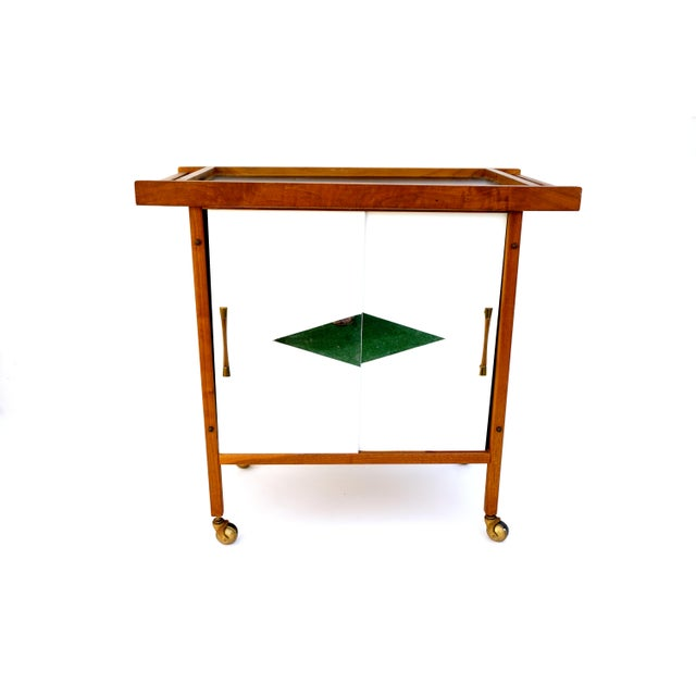 Mid-Century Danish Modern Teak Bar Cart - Image 5 of 11